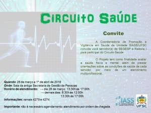 Circuito Saúde Edição 2016 - Cartaz